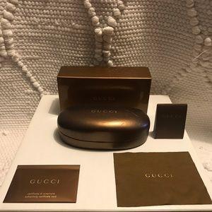 Gucci sunglass case and box